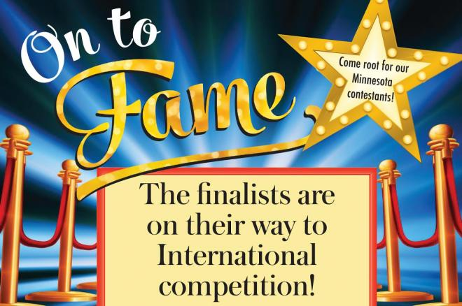 "Drawing with ""On to Fame, the finalists are on their way to international competition"""
